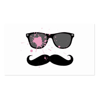 Funny Mustache and Sunglasses Business Card
