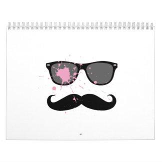 Funny Mustache and Sunglasses Wall Calendar