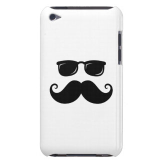 Funny mustache and sunglasses face iPod touch Case-Mate case