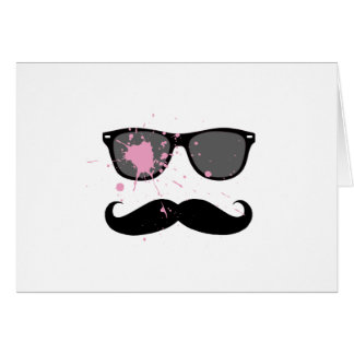 Funny Mustache and Sunglasses Greeting Card