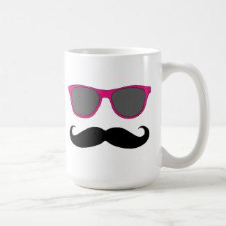Funny Mustache and Sunglasses Humour Mug