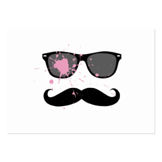 Funny Mustache and Sunglasses Large Business Card