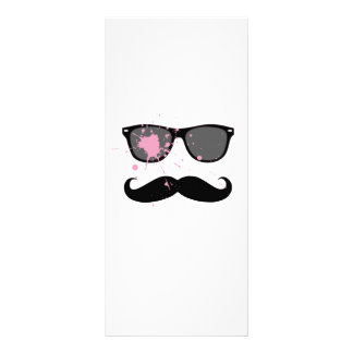 Funny Mustache and Sunglasses Custom Rack Cards
