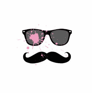Funny Mustache and Sunglasses Standing Photo Sculpture