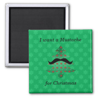 Funny mustache christmas gifts magnet