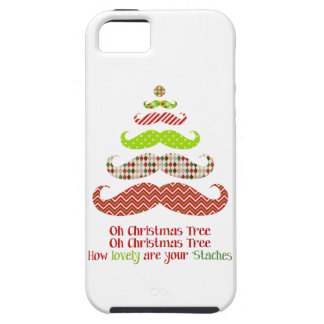 Funny Mustache Christmas tree holiday iphone case