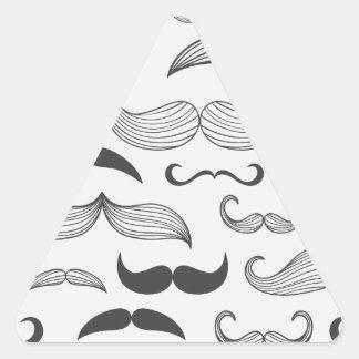 Funny Mustache Fantachetic Triangle Sticker