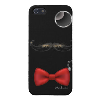 Funny Mustache Glasses Bow Tie iPhone 5 Case. iPhone 5 Cover