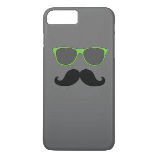 FUNNY MUSTACHE GREEN SUNGLASSES iPhone 8 PLUS/7 PLUS CASE