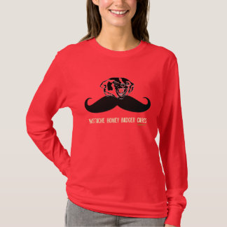 Funny Mustache Honey Badger Dark T-Shirt