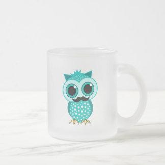 funny mustache owl coffee mugs