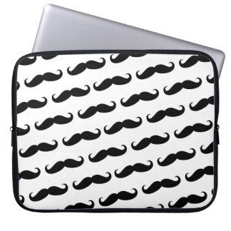 Funny mustache pattern laptop sleeve