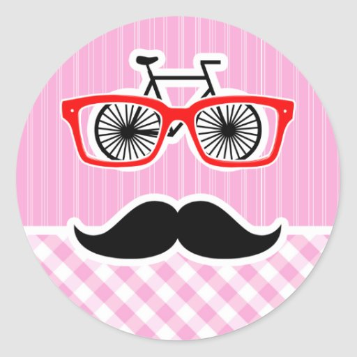 Funny Mustache; Pink Plaid; Checkered Stickers