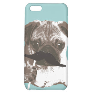 Funny Mustache Pug iPhone 5C Case