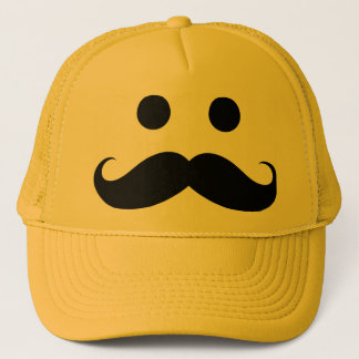 Funny Mustache Smiley Face Hat