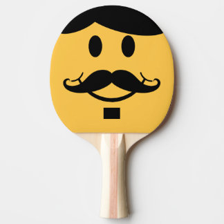 Funny Mustache Smiley Ping Pong Bat Ping Pong Paddle