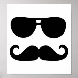 Funny Mustache sunglasses Poster