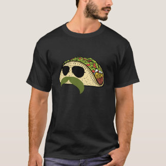 Funny Mustache Taco T-Shirt