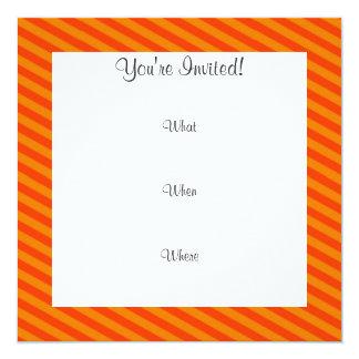 Funny Mustache with Orange Stripes Custom Invites