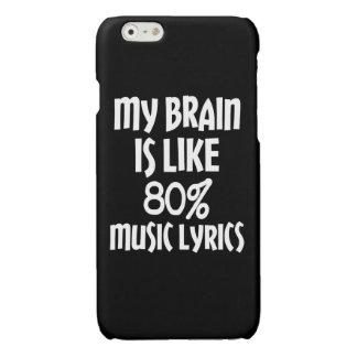 Funny My brain is like 80% music lyrics phone case