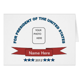 Funny Name Here President Card