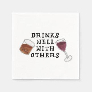 Funny Napkins Wine and Liquor Alcohol Humor Paper Napkins