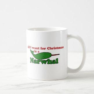 Funny Narwhal Christmas Coffee Mug