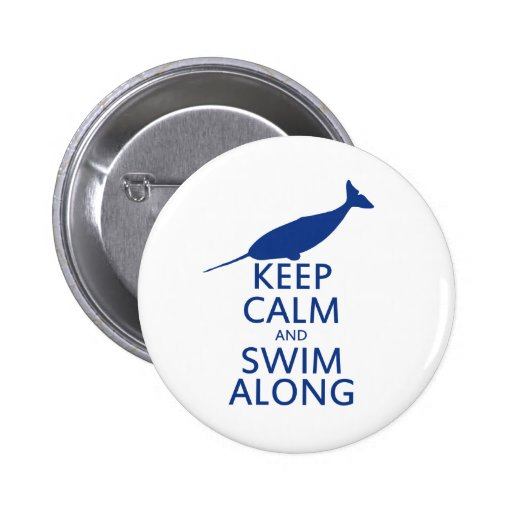 Funny Narwhal Humor Button