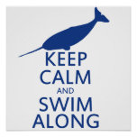 Funny Narwhal Humour Poster