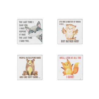 Funny Nature | Cute Sarcastic Wildlife Quote Stone Magnets
