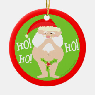 Funny Naughty Santa Christmas Ornament