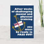 Funny Navy Passing Out Parade Congratulations Card