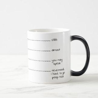 "Funny ""need to poop"" coffee lovers mug"