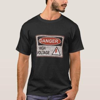 Funny Nerd Gift. Danger, high voltage. Crazy shirt