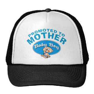 Funny New Mother First Boy Trucker Hat