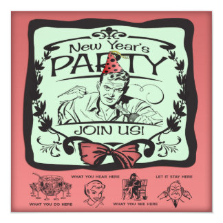 Funny New Year's Eve Party Card