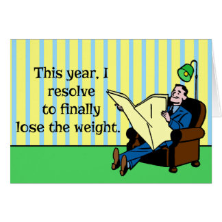 Funny New Year's Resolution Retro Weight Loss Card