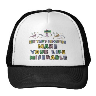 Funny New Year's Resolution T-Shirt Trucker Hats