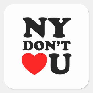 Funny New York Quote Heart Square Sticker