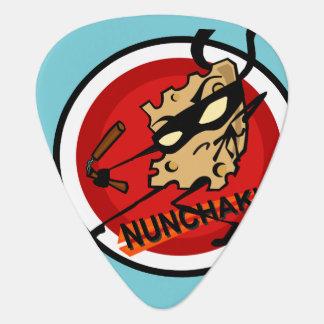 FUNNY NINJA CHEESE ILLUSTRATION GUITAR PICK