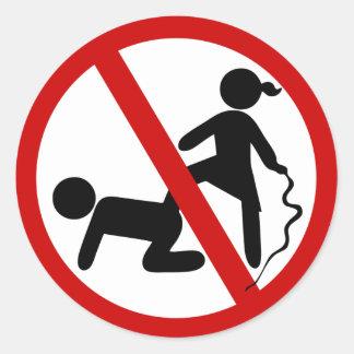 Funny NO Femdom ⚠ Thai Sign ⚠ Classic Round Sticker