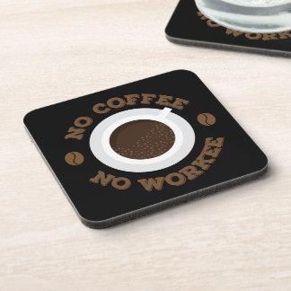 Funny No Morning Coffee No Work  Caffeine Lovers Coaster