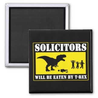 Funny No Soliciting Magnet