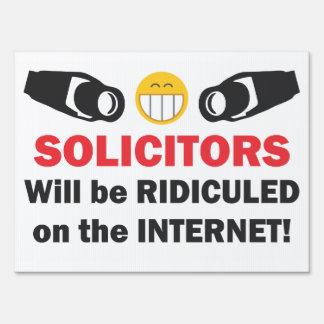 Funny No Solicitors Security Camera Sign