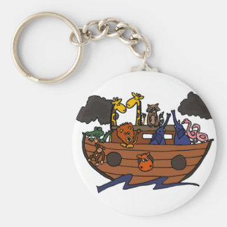 Funny Noah's Ark Cartoon Keychain