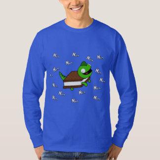 Funny NOM NOM Cartoon Lizard IceCream Tee