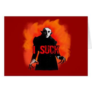 Funny Nosferatu I Suck Products Card