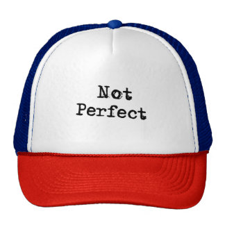 Funny Not Perfect Typography Text Design Trucker Hat