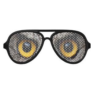 b484b6c42b37 funny novelty halloween party night owl eyes aviator sunglasses