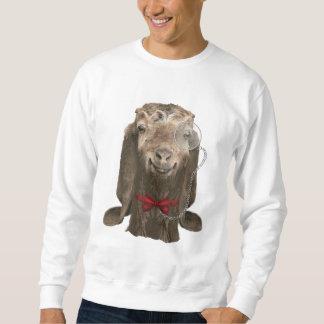 Funny Nubian Goat with Monocle Sweatshirt